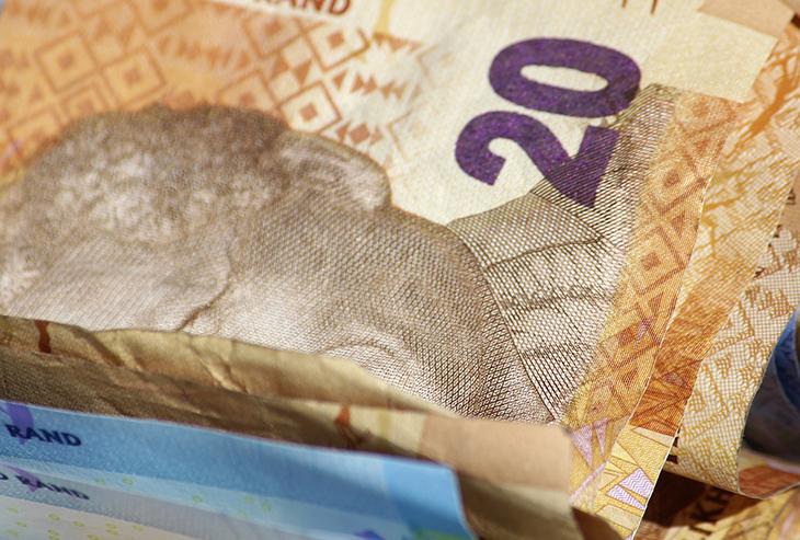 Le dollar en Afrique du Sud
